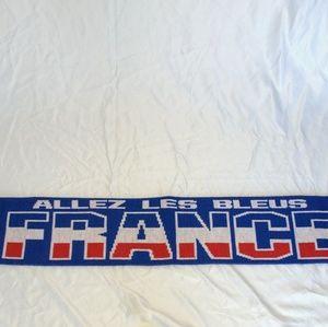 """France Soccer Scarf """"Allez Les Bleus"""""""